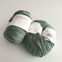 Sublime Soya Cotton Yarn 2 Balls Green Nettle DK 240yd Soft Designer Luxury