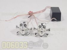 Flash lighting SKULL License Screws Bolts for many motorcycle truck car #m8