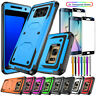 For Samsung Galaxy s6 / S6 Edge Plus Phone Case Cover + Tempered Glass Protector