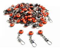50 Perlen Wirbel ( Blei Posen Adapter Angeln Karpfen Forelle Aal Angelzubehör)