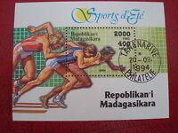MADAGASCAR - 1994 SUMMER SPORTS - MINISHEET - UNMOUNTED USED - EX CONDITION