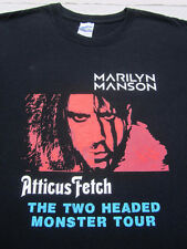 MARILYN MANSON two headed monster tour XL concert T-SHIRT atticus fetch