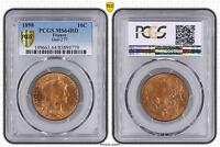 M5485 Rare 10 Centimes Dupuis 1898 PCGS MS64RD SPLENDIDE FDC -> Faire Offre