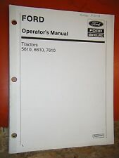 FORD NEW HOLLAND 5610 6610 7610 TRACTOR FACTORY OPERATORS MANUAL