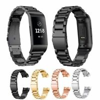 Stainless Steel Watch Band Metal Strap Bracelet For Fitbit Charge 3 & 3SE