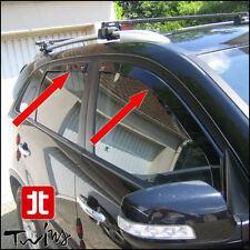 Set 4 Déflecteurs de vent pluie air teintées pour Kia Sorento II depuis 2010