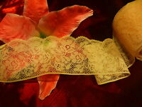 3M X 6 cm, 5 Muy Gran Encaje Rosa Calais de Lotes Disponibles No Corte = Bonita