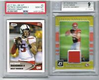 2017 Donruss Optic Patrick Mahomes Rookie Threads BGS 9 + SAGE Hit RC PSA 10