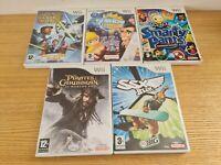 Nintendo Wii 5x Games Bundle