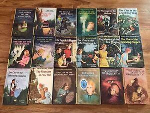 Lot of 18 Vintage Nancy Drew Mystery Books Carolyn Keene