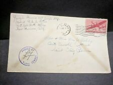 USS FULTON AS-11 Naval Cover 1944 Censored WWII Sailor's Mail PEARL HARBOR, HI