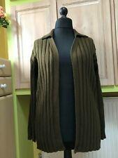 Hennes Collection 💗 very warm dark khaki cardigan jumper size 14 NEW.