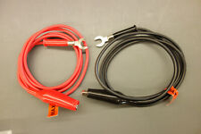 Multimeter Fork Terminal Alligator Clips Extension Test Leads Cable 1 Meter 10a