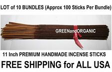 "WHOLESALE Approx 1000 HOTTEST SELLING 11"" Premium INCENSE STICKS 10 x 100 Packs"