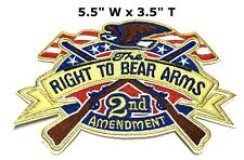 2nd Amendment Patch Us Constitution Gun Rights embroidered iron-on Second 2A