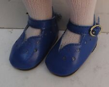 Chaussure bleu roy 6cm pour poupée ancienne moderne et vintage. DOLL SHOES