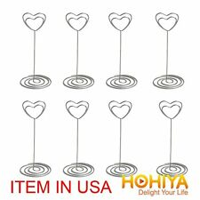48 Metal Heart Place Card Name Holders Table Number Decoration Wedding Favors