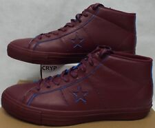 New Mens 12 Converse One Star Pro Mid Deep Bordeaux Leather Shoes $80 155519C