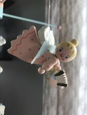 Vintage Irmi ANGEL Baby Mobile Hand Painted Excellent Pink Blue Nursery Decor
