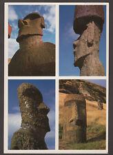 2819 CHILE EASTER ISLAND ISLA DE PASCUA MOAI POSTCARD ARCHAEOLOGY