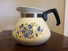 Vintage Corning Ware Canterbury Blue Bells 6 Cup Teapot 1971