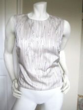 $ 998 NWT BRUNELLO CUCINELLI IVORY SILK BLEND EMBELLISHED TOP BLOUSE Size: L