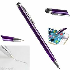 10 Purple 2-in-1 Touch Screen Stylus Ballpoint Pen iPad iPhone Smartphone Tablet