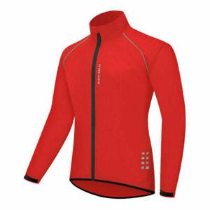 Men Women Cycling Jacket Waterproof Lightweight Biking Windbreaker MTB Bike Coat