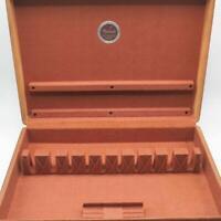 Vintage Naken's Wood Flatware Silverware Storage Chest Box