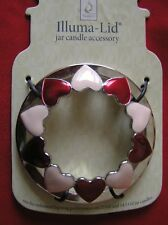 Yankee Candle Red Pink Silver Hearts Flat Style Illuma Lid Topper Free Shipping