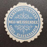 Siegelmarke Vignette Gemeinde-Vorstand Neu-Weissensee Kreis Niederbarnim (8186-2