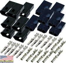 "Molex 2-Pin 0.250/"" Black UP-20A Wire Connector 14-20 AWG MLX™ 3 Match Set"
