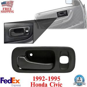 Front Door Handle Driver Side Interior Plastic For 1992-1995 Honda Civic