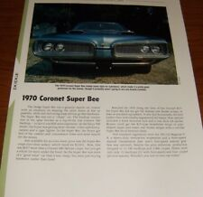 ★★1970 Dodge Coronet Super Bee Specs Info Photo 70 440 Superbee Mopar Superbee★★