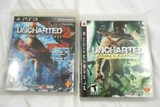 Uncharted: Drake's Fortune and Uncharted 2 Playstation 3 PS3 Lot of 2 Games