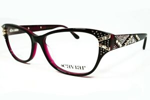 Caviar M5648 C28 Burgundy Purple W Swarovski Crystals Eyeglasses 54mm Authentic
