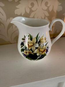 Welsh Milk Jug,Hand Painted Welsh Daffodil Bone China