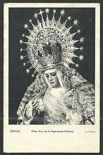 Postal antigua Virgen de la Esperanza de Triana  andachtsbild santino holy card