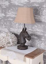 Tischlampe Pferd Lampe Kolonialstil Tischleuchte Pferdekopf Leuchte