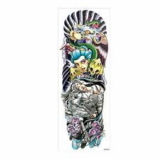 Temporary Tattoo sleeve Samurai Snake Stickers Body Art Waterproof
