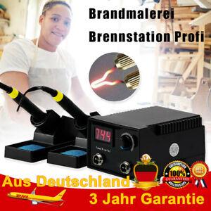 Brandmalerei Brennstation Profi mit 2 Brennstift Brandmalkolben Dregelbares DHL