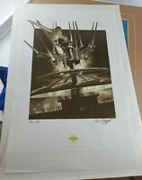 Disney Observatron Paul Wenzel Signed Lithograph Print 73/100 RARE Tomorrowland