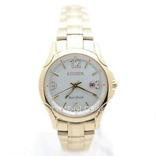 Citizen Eco-Drive EW1782-55A Gold Stainless Steel Analog Pearl Dial Ladies Watch