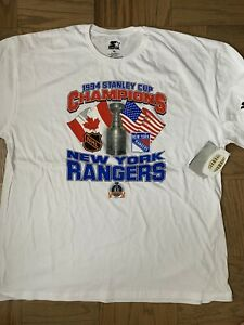 NY RANGERS 1994 STANLEY CUP CHAMPIONSHIP SHIRT 3XL STARTER 25 ANNIVERSARY MSG