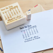 Personalized Stamp, Custom Calendar Stamp, Wedding Wood Stamp Save the Date