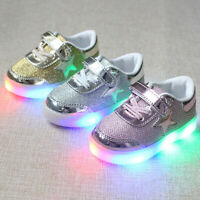 SOFT Kid LED Light Up Luminous shoes Boy Girl Causal Sneakers 22/23/26/28