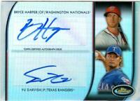 MLB Card 2012 FINEST Dual Autographs Bryce Harper Yu Darvish 09/10