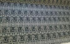 "Asian Style Henna Elephants 100% Cotton Fabric 45"" Wide Sold Per Half Metre"