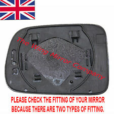 HONDA HRV 1999->2006 DRIVER/RIGHT SIDE DOOR/WING MIRROR GLASS SILVER & BASEPLATE