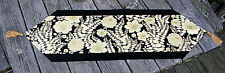 """Floral Table Runner 100% Cotton Fabric New Handmade 13.75"""" x 50"""" Rayon Tassels"""